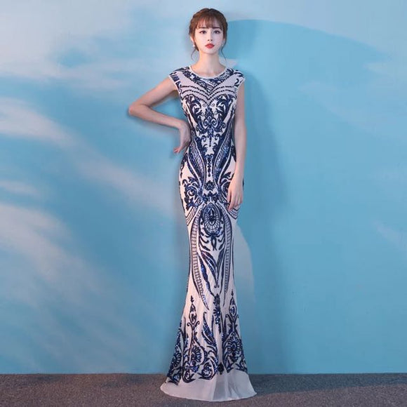 Gatsby Sequinned Evening Gown - Gowns.sg
