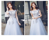 Elena Dust Grey Gown - Gowns.sg