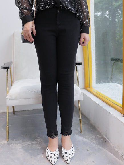 Plus Work Pants in Black (L-4XL) - Gowns.sg