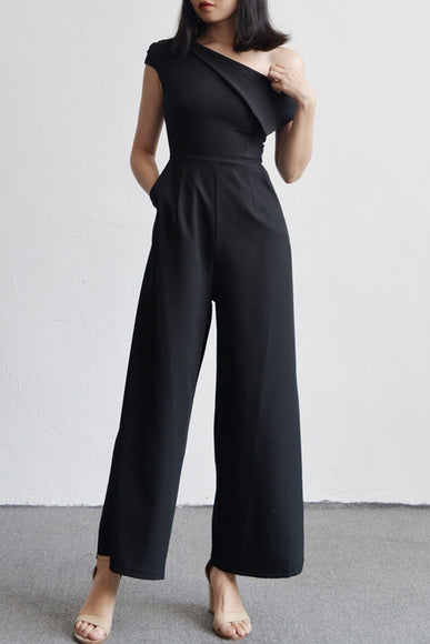 Jaanh Panel Jumpsuit - Gowns.sg
