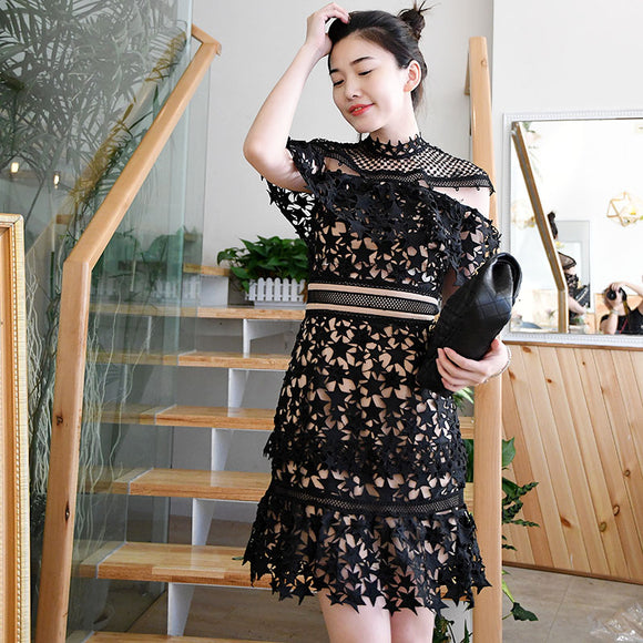 Starry Skies Lace Dress ( L onwards) - Gowns.sg