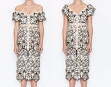 <best><CS081>Patterned Floral Dress - Gowns.sg