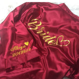 Personalised Red Satin Robe - Gowns.sg