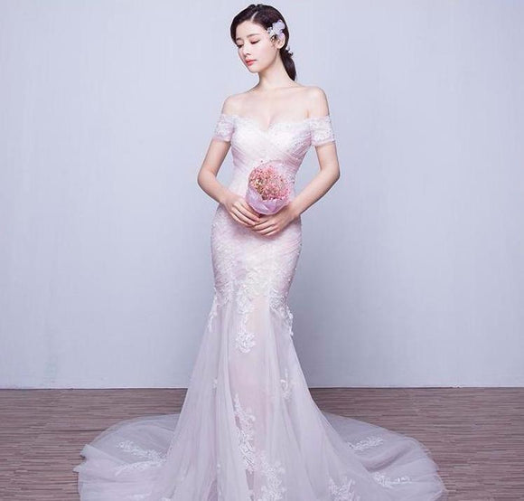 Peony Pink Fishtail Gown - Gowns.sg