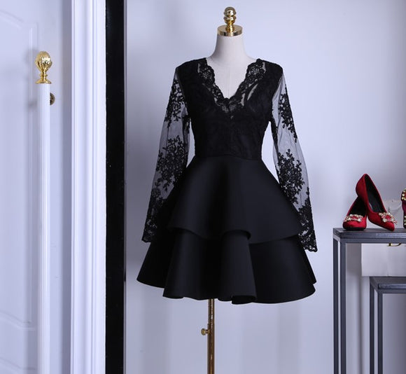 Nocturnal Lace Trimmed Flare Dress - Gowns.sg