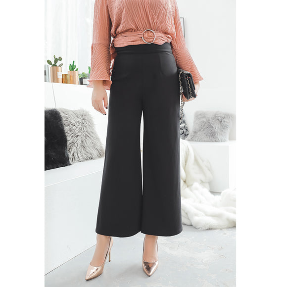 Slimming Work Plus Pants (L-4XL) - Gowns.sg