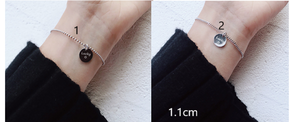 Personalised Round Pendant Bracelet - Gowns.sg