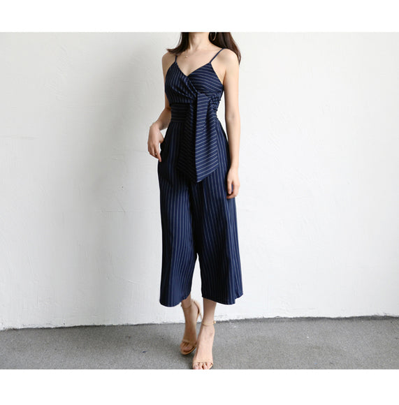 Penny Pinstripe Jumpsuit - Gowns.sg