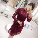 <plus><CS059>Lace Tiered Dress (L onwards) - Gowns.sg
