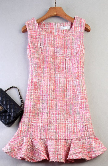 Pretty in Pink Tweed Dress - Gowns.sg