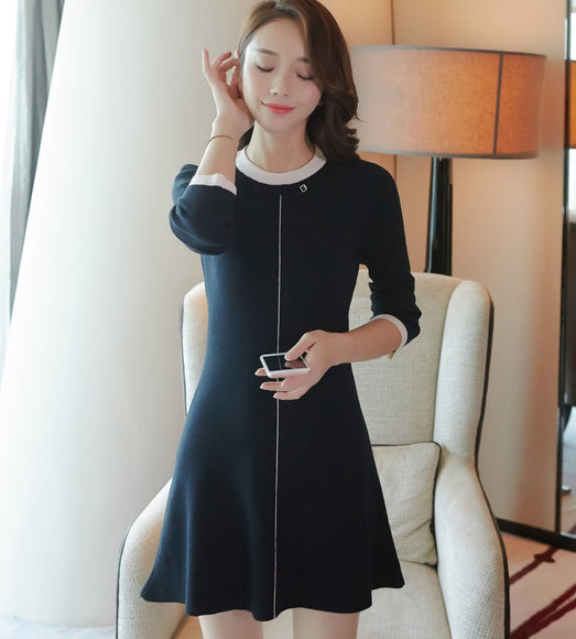Mademoiselle Knit Dress - Gowns.sg