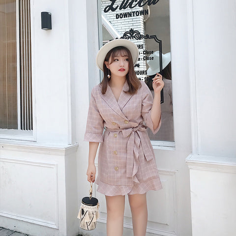 Nude Tone Sash Plus Dress (L-4XL)