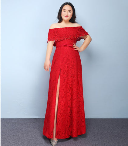 Plus Gown in Off Shoulder - Gowns.sg