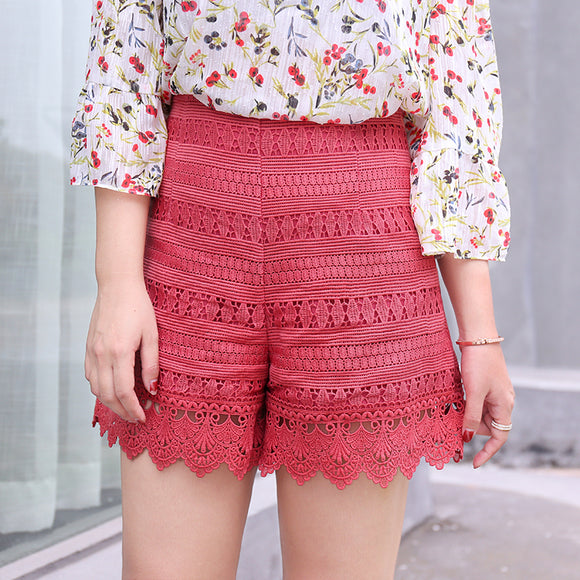Crochet Lace Plus Pants (L-4XL) - Gowns.sg