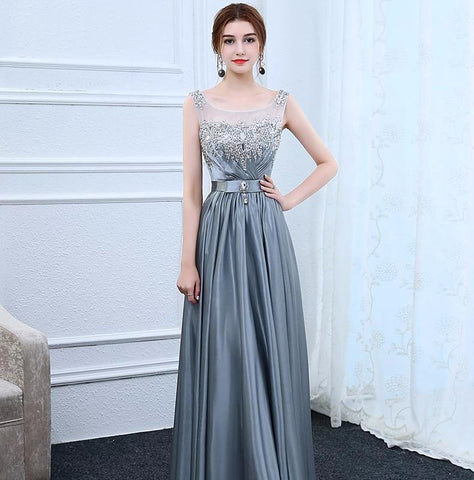 <EG555>Diana Embellished Evening Gown - Gowns.sg