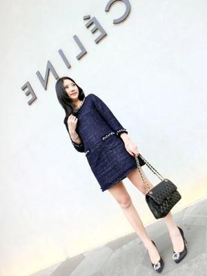 Denim Blue Shift Dress - Gowns.sg