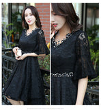 Lace Mini Gown (XL onwards) - Gowns.sg