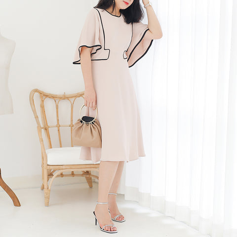 Classic Flare Sleeve Dress (L-4XL) - Gowns.sg