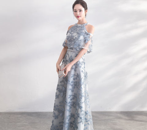 Cut Out Shoulder Gown - Gowns.sg