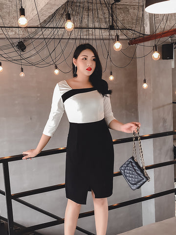 Mono Work Dress (L-4XL)