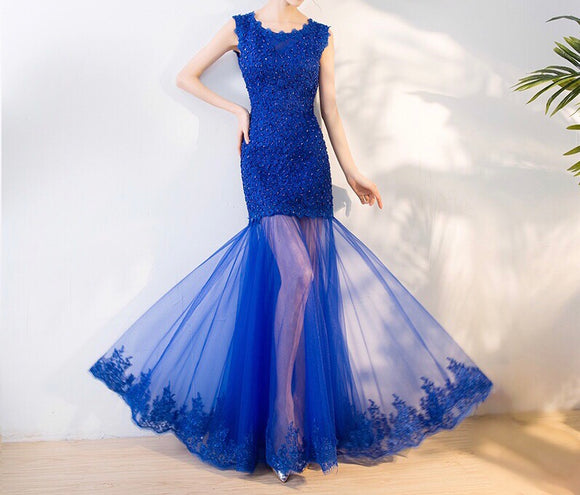 <CS111>Fully Beaded Fishtail Gown - Gowns.sg