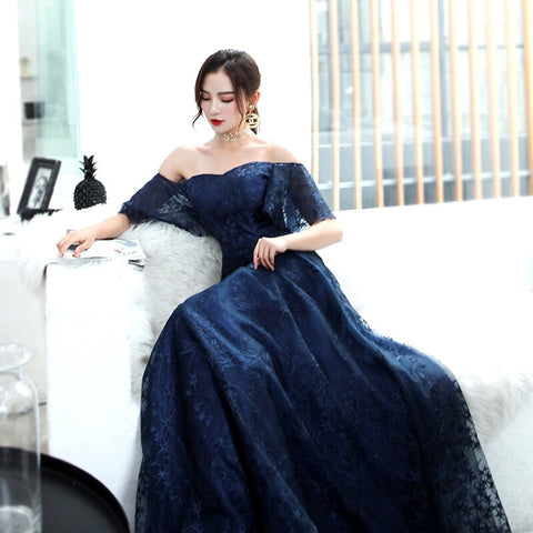 """Stars On Me"" Off Shoulder Gown"