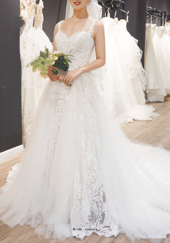Cecile Lace Strap Gown - Gowns.sg