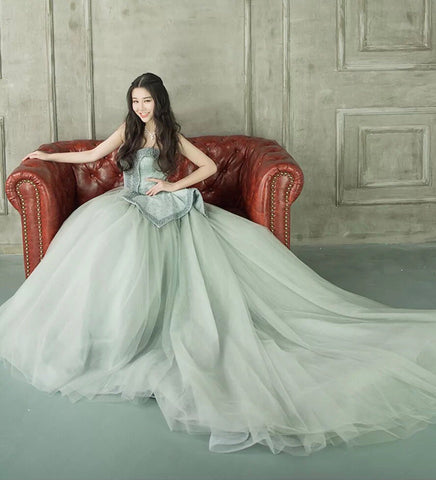 Arlana Tube Gown in Grey - Gowns.sg