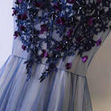 Purple Embellishments Evening Gown