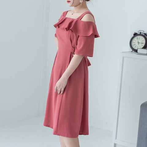 Cut Out Plus Dress (L-5XL) - Gowns.sg
