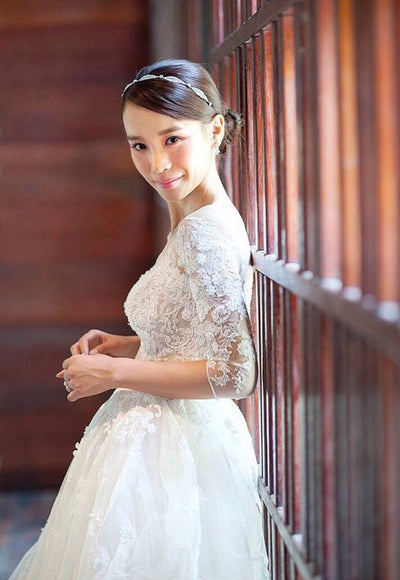 <WED024>Bolero Cover Up Wedding Gown - Gowns.sg