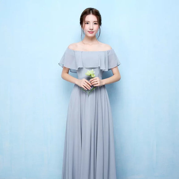 Off Shoulder Bridesmaid Dress - Gowns.sg