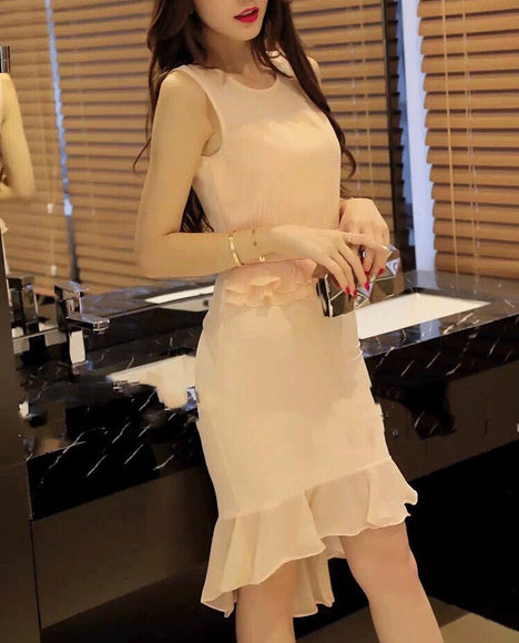 Blair Work Dress In Nude - Gowns.sg