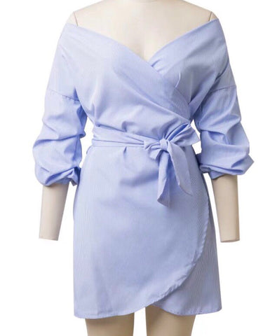 Tunselle Shirt Dress - Gowns.sg