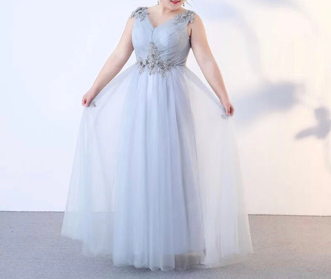 Goddess Tulle Gown (XL-3XL) - Gowns.sg