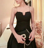 Chain Strap Bustier Gown (L-5XL) - Gowns.sg