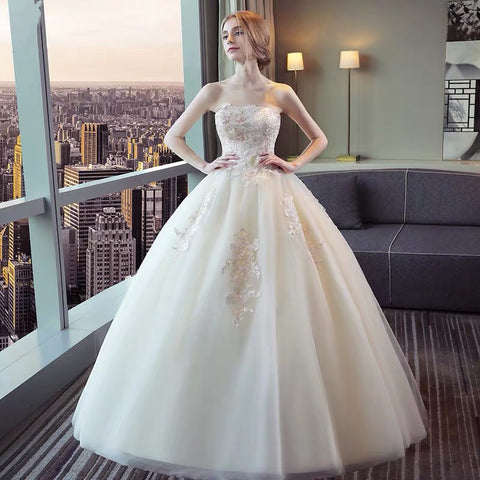 <WED021>Goddess Ballroom Wedding Gown