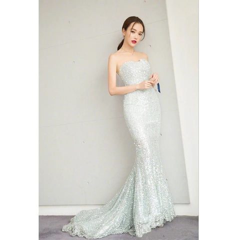 Devore Shiny Gown - Gowns.sg