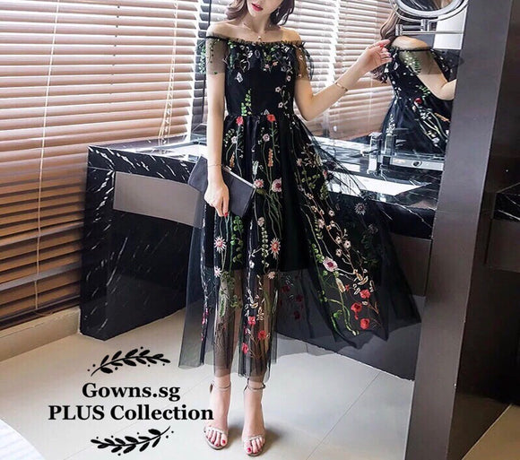 Flamico Floral Dress (L Onwards) - Gowns.sg