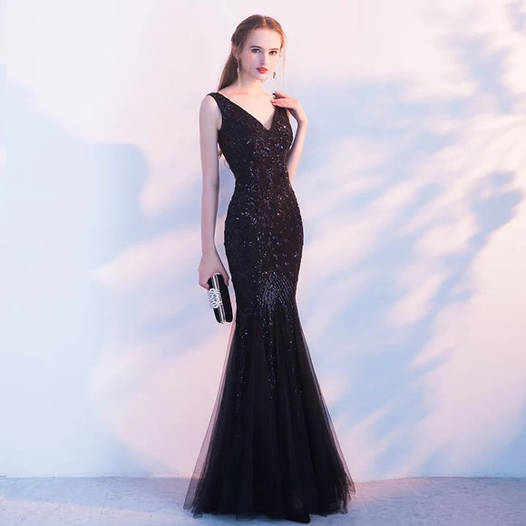 Louisa Bead Sequin Gown - Gowns.sg