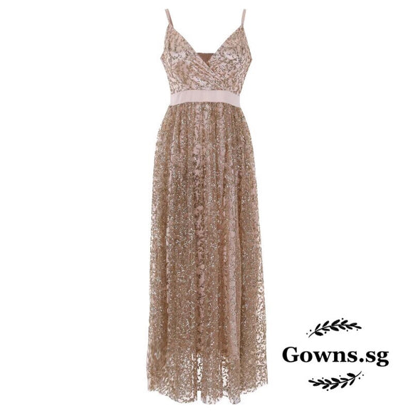 Glittery Party Dress - Gowns.sg