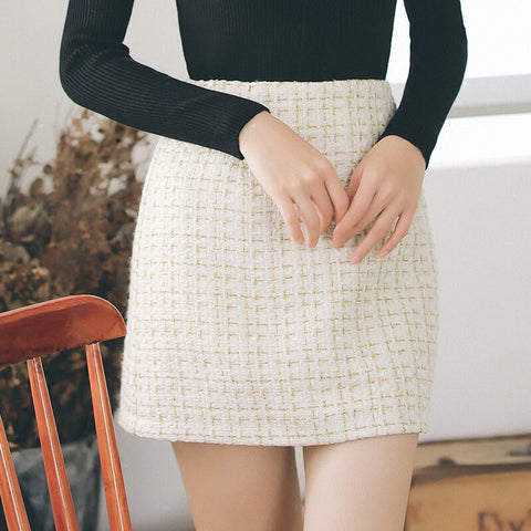 Tweed Office Skirt - Gowns.sg