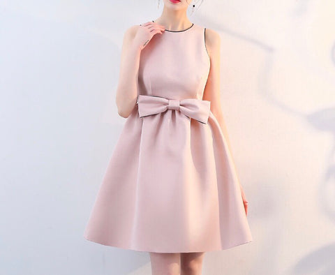 Centre Ribbon Flare Dress (S-XL) - Gowns.sg
