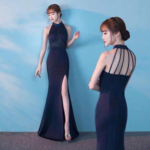 Ocean Embellished gown - Gowns.sg