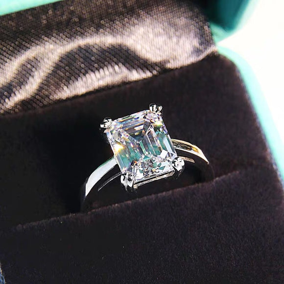 Man made square cut Diamond ring OFF1016 - Gowns.sg