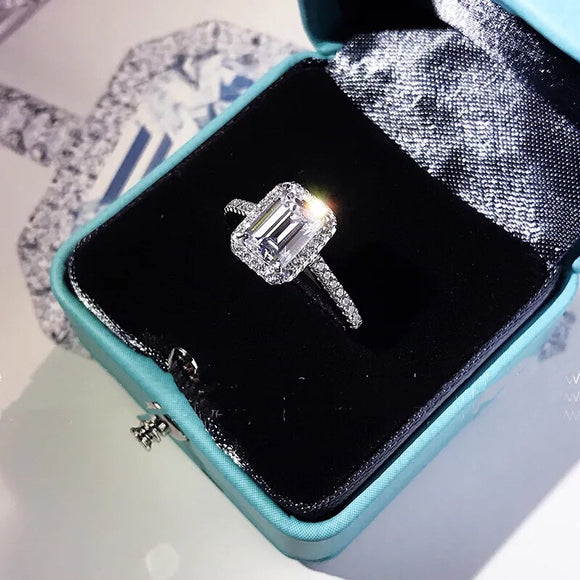Stimulated Emerald Cut Ring OFF807