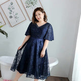 Starry Mesh Mini Gown (2XL-7XL) - Gowns.sg