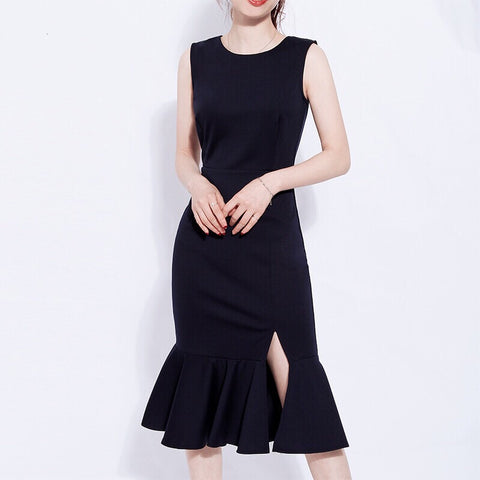Fully Lined Tail Dress (S/M/L) - Gowns.sg