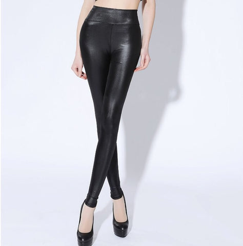 Black Liquid Leggings - Gowns.sg