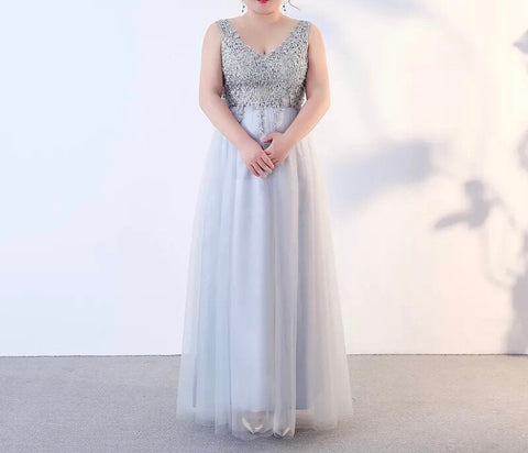 Discollette Embellished Gown (XL-3XL) - Gowns.sg